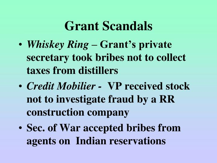 Grant Scandals