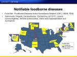 notifiable foodborne diseases