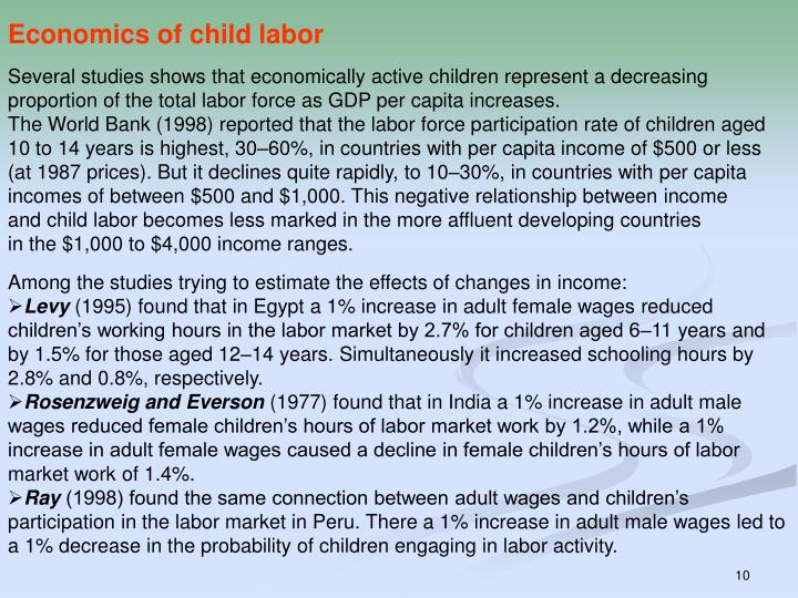 Economics of child labor