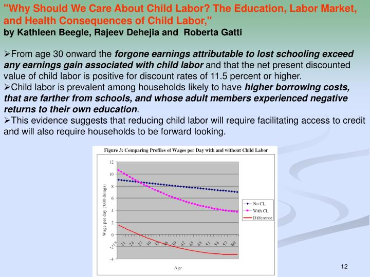 """Why Should We Care About Child Labor? The Education, Labor Market, and Health Consequences of Child Labor,"""
