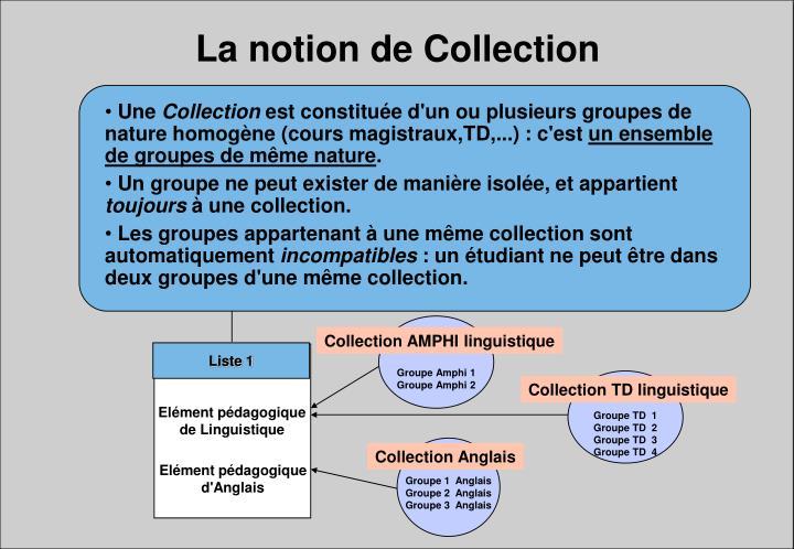 La notion de Collection