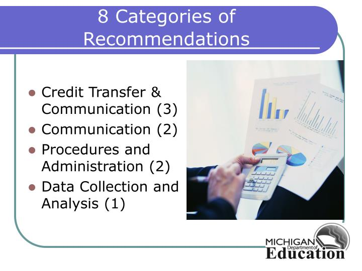 8 Categories of Recommendations