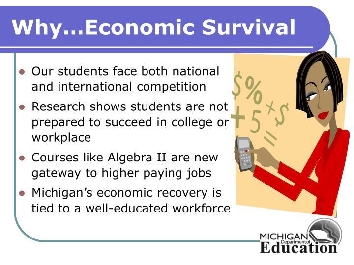 Why economic survival