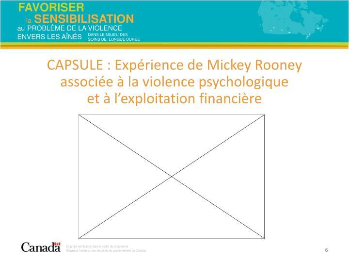 CAPSULE: Expérience de Mickey