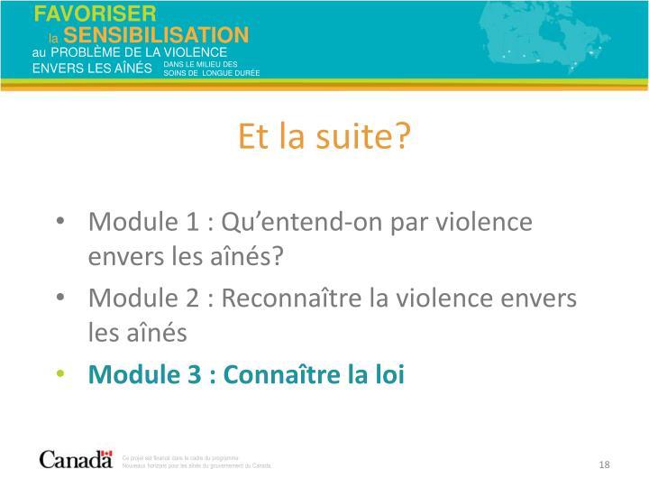 Module 1: Qu'entend-on par violence envers les aînés?
