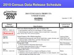 2010 census data release schedule