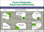 census geography sub county relationships