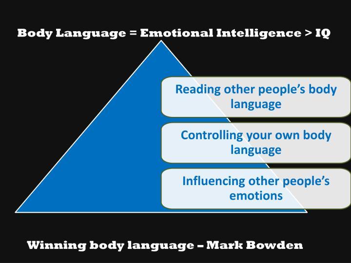 Body Language = Emotional Intelligence > IQ