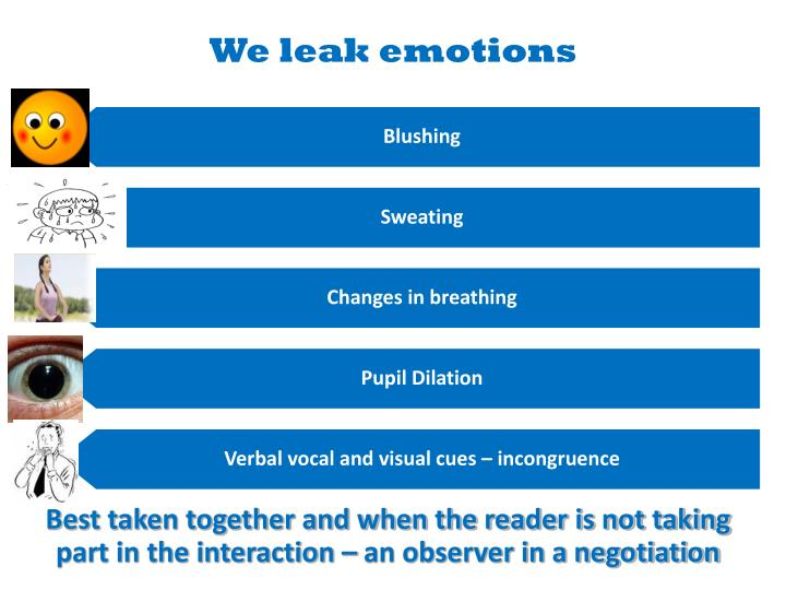 We leak emotions