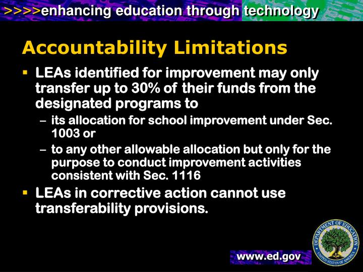 Accountability Limitations