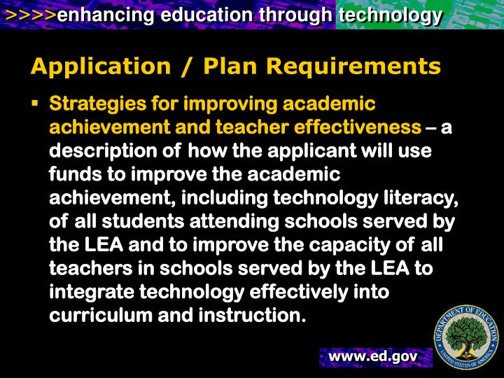 Application / Plan Requirements