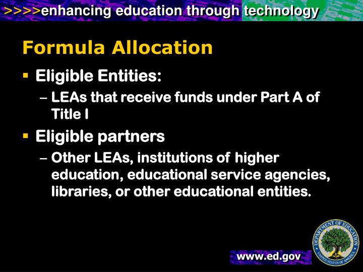 Formula Allocation