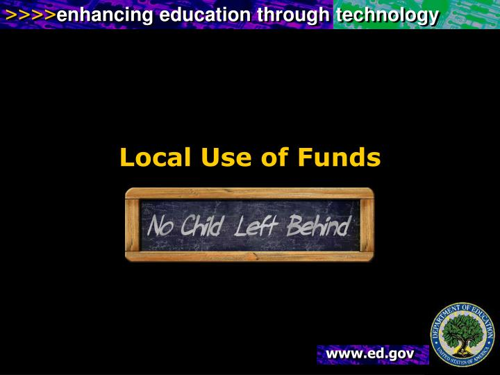 Local Use of Funds