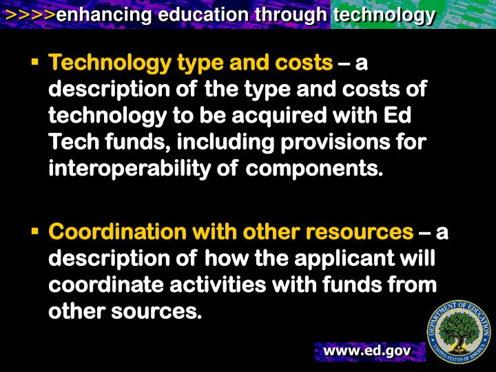Technology type and costs