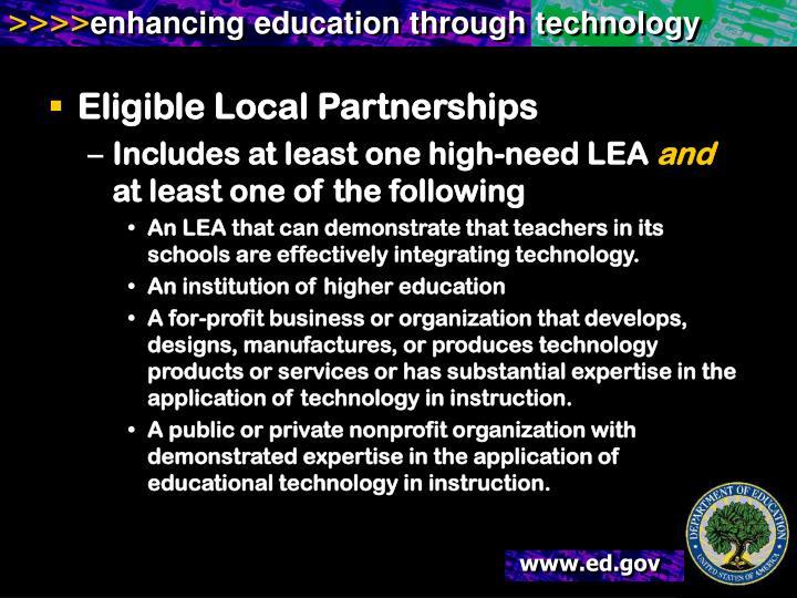 Eligible Local Partnerships