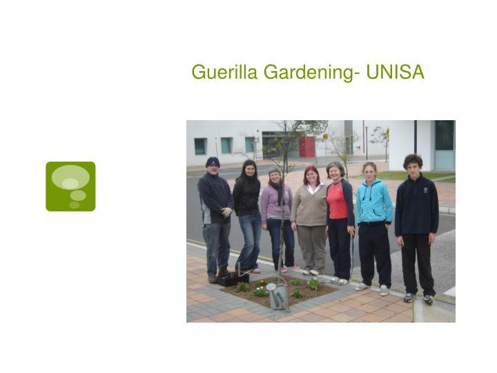 Guerilla Gardening- UNISA