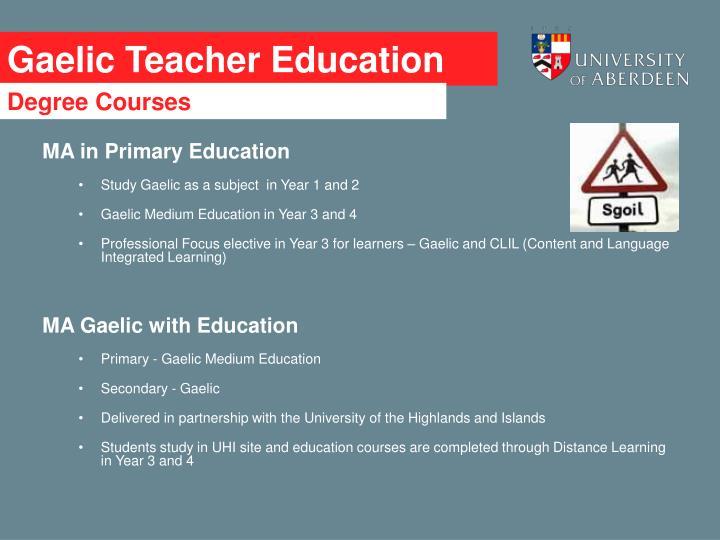 Gaelic t eacher education