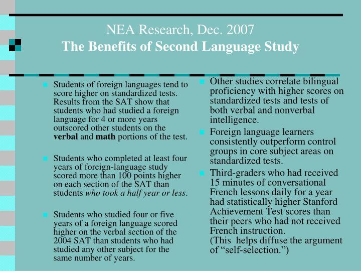 NEA Research, Dec. 2007