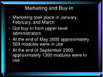 marketing and buy in