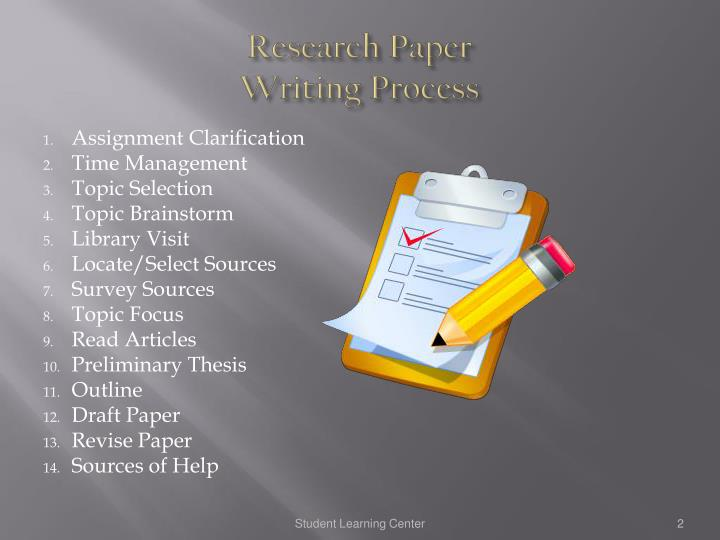 processes writing research paper Tip sheet writing a process paper a process paper describes to a reader how to do something or how something occurs stages in psychological development, steps in installing software or carrying out a marketing plan, or processes in science or historical change, for example, could all be described in a process paper.