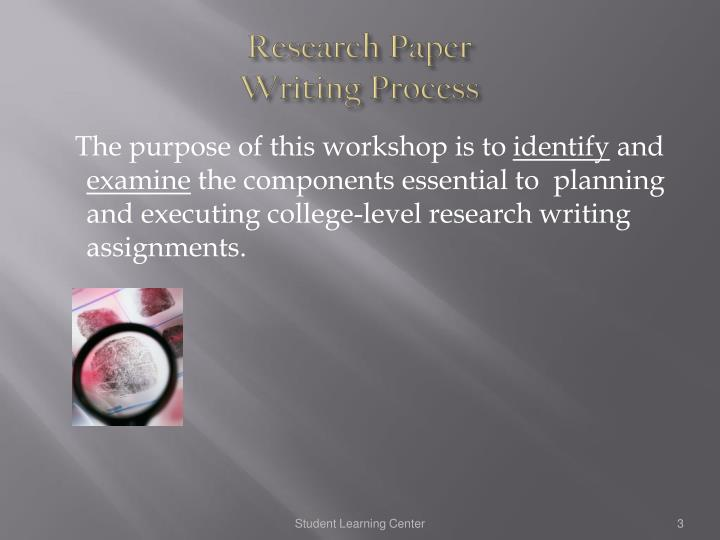 research paper writing process ppt Main steps of the thesis writing process writing a thesis is intimidating work research paper writing dissertation topics writing a business research paper.