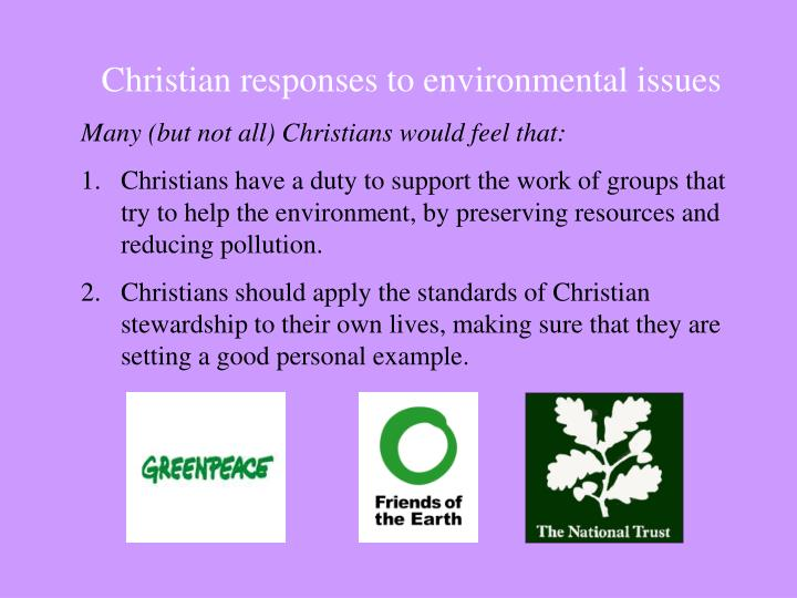Christian responses to environmental issues
