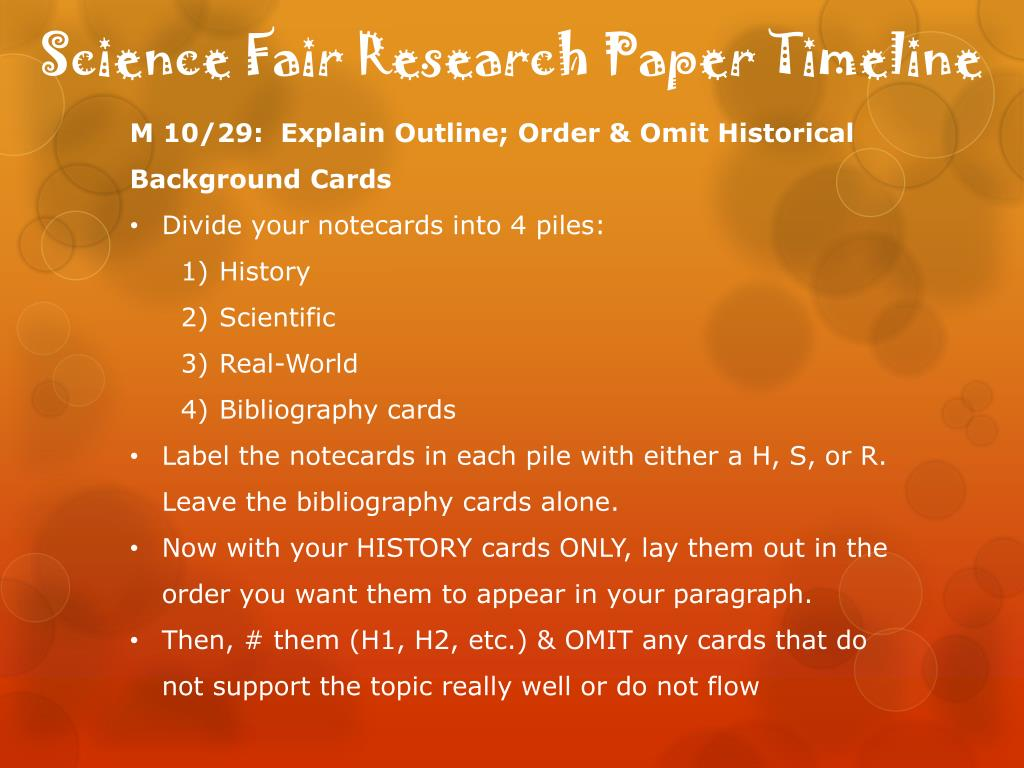Science fair essay