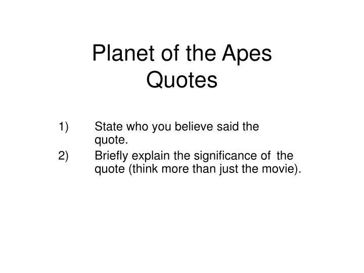 planet of the apes quotes n.