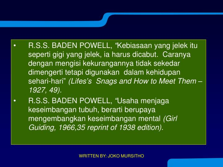 R.S.S. BADEN POWELL,