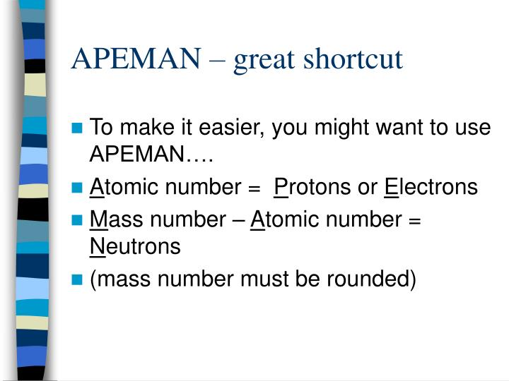 APEMAN – great shortcut