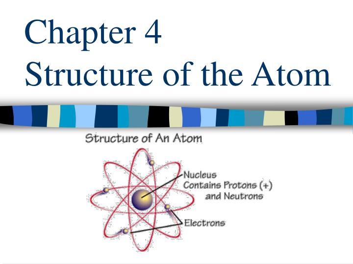 Chapter 4 structure of the atom