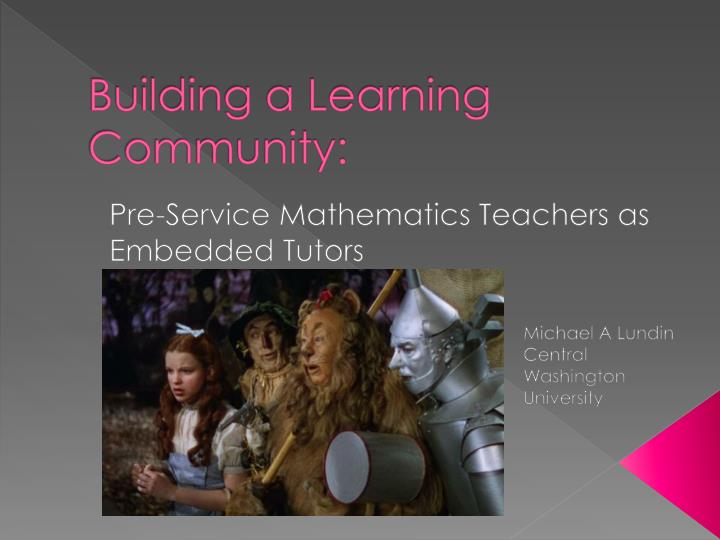 building a learning community n.