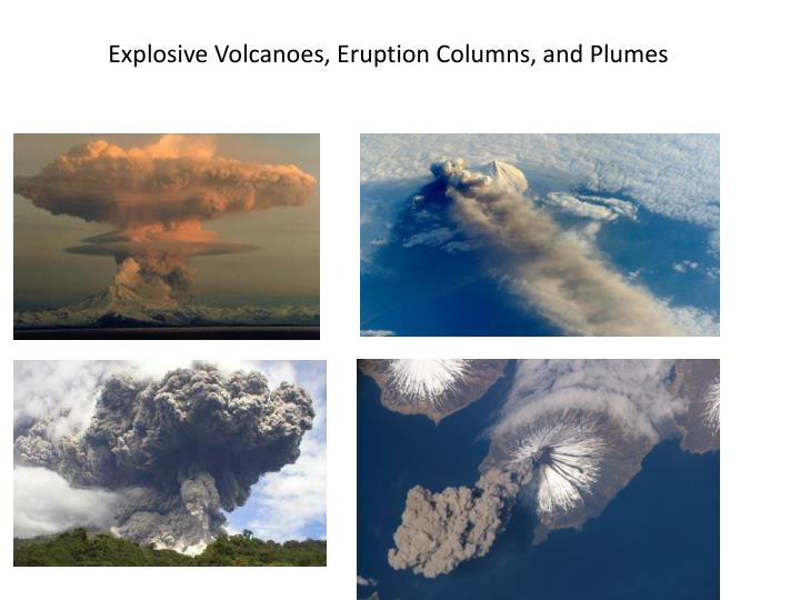 Explosive Volcanoes, Eruption Columns, and Plumes