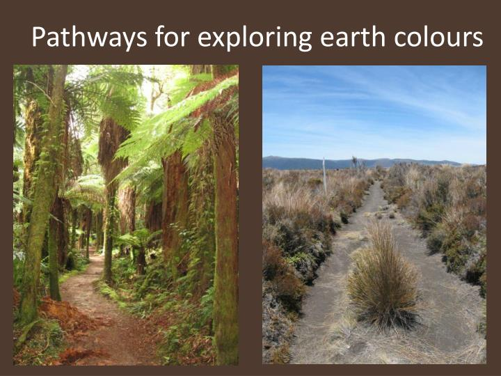 Pathways for exploring earth colours