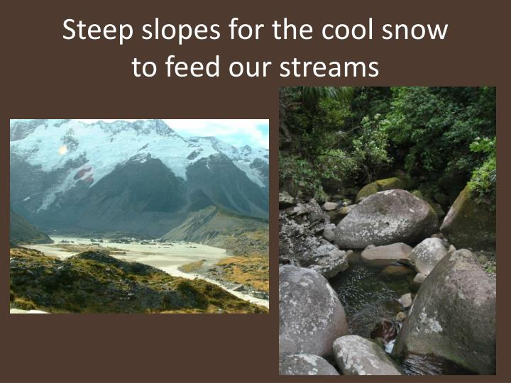 Steep slopes for the cool snow