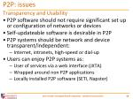 p2p issues10
