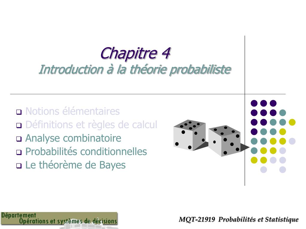 chapitre 4 introduction la th orie probabiliste n.