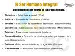 el ser humano integral