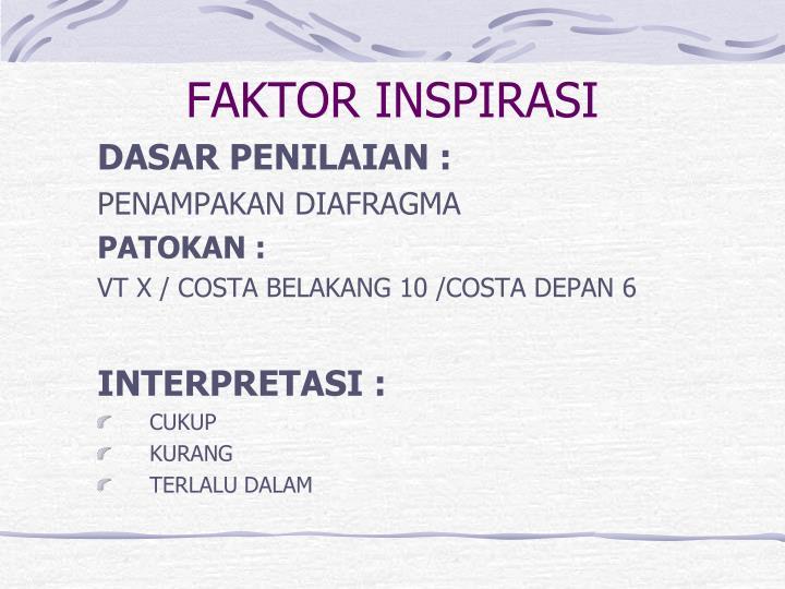 FAKTOR INSPIRASI