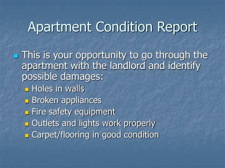 Apartment Condition Report