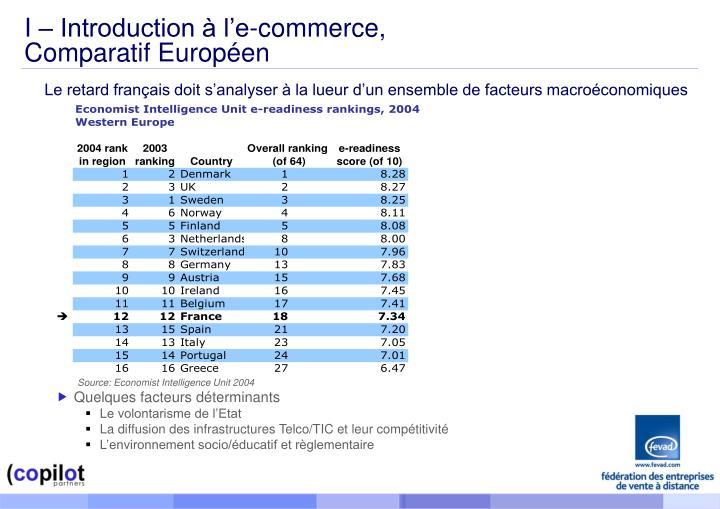 I – Introduction à l'e-commerce,