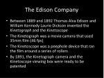 the edison company