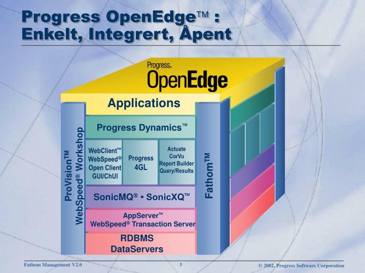 Progress openedge enkelt integrert pent