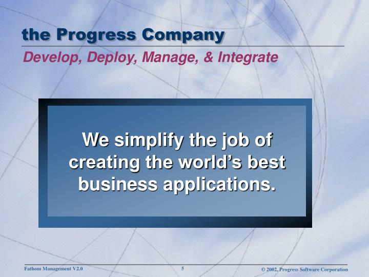 the Progress Company