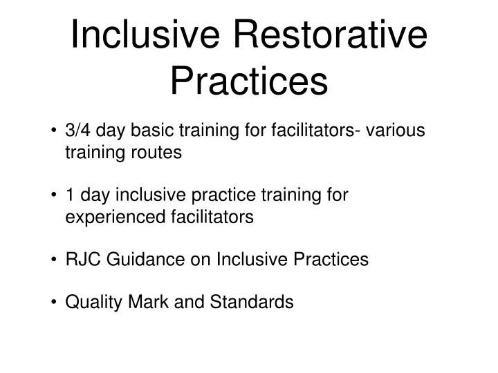 Inclusive Restorative Practices