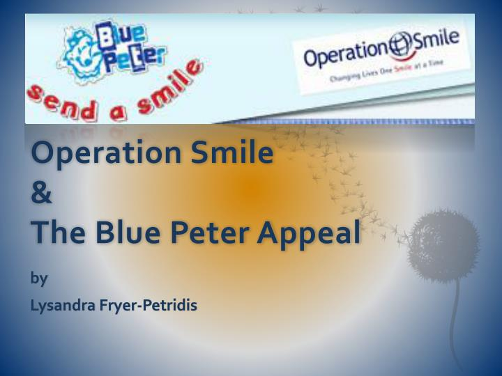 operation smile the blue peter appeal n.