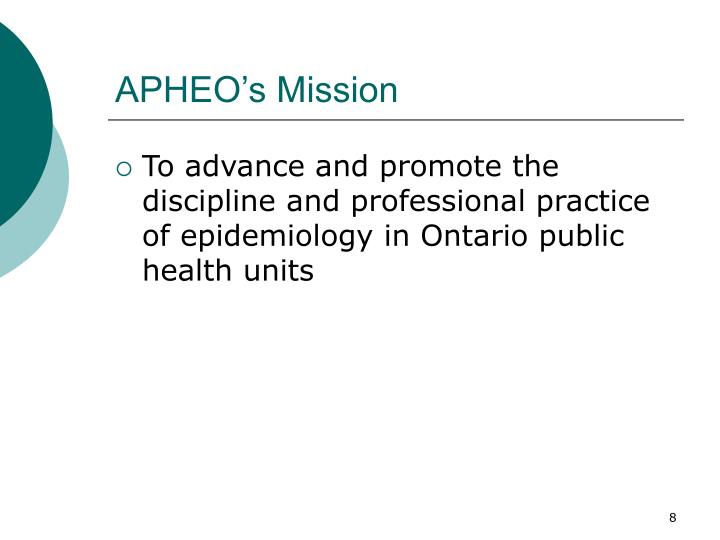 APHEO's Mission