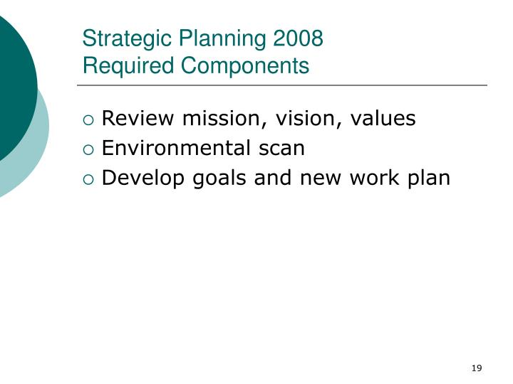 Strategic Planning 2008
