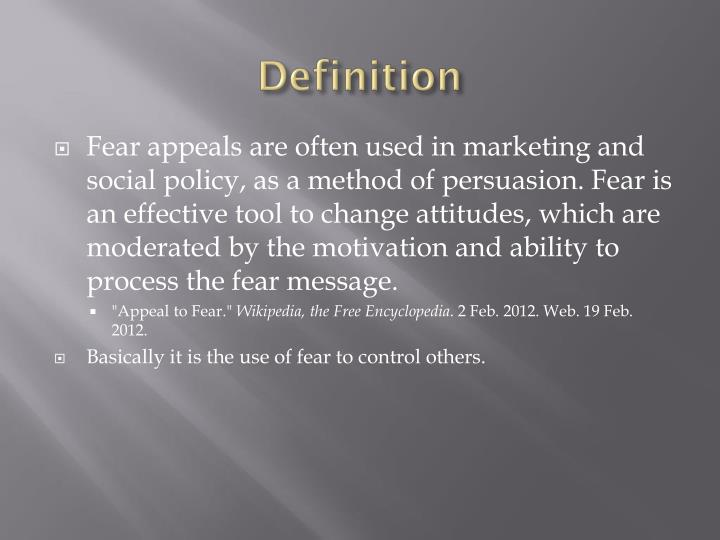 definition of fear download