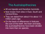 the australopithecines1